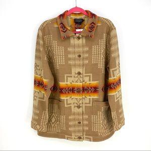 PENDLETON Jacket Coat Chief Joseph Native Wool Rug